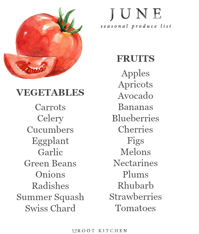 June Seasonal Produce List, along with an ingredient index for recipe ideas and a few favorite recipe recommendations | uprootkitchen.com