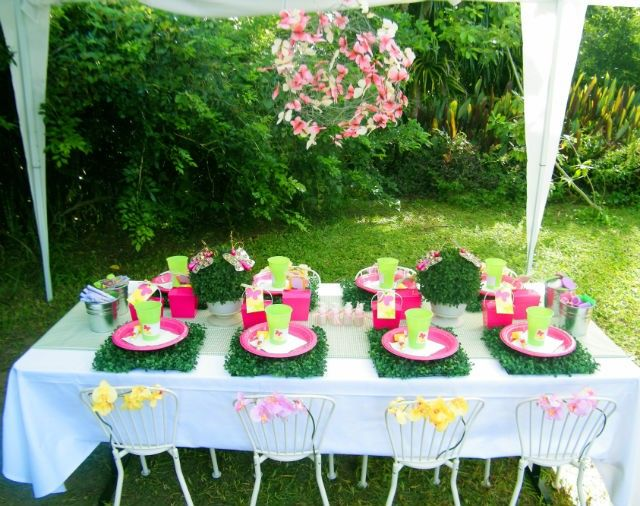 70 best images about kids 39 parties decorations ideas on for Garden tea party table decorations