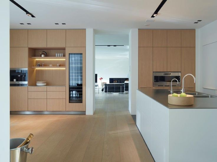 bulthaup - kitchen b3- oak and lacquer, what a beautifull combination! - realisation by ligna recta antwerp