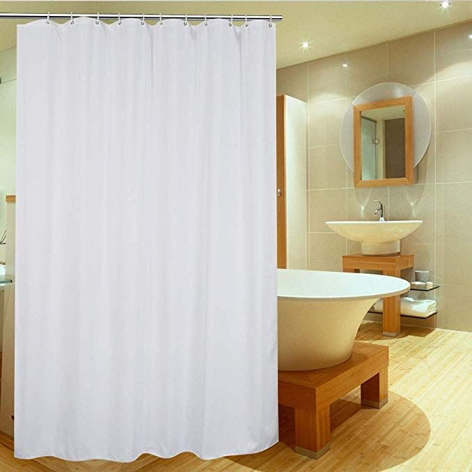 Ufriday Shower Curtain Liner 75 Inch Long Fabric Shower Curtain