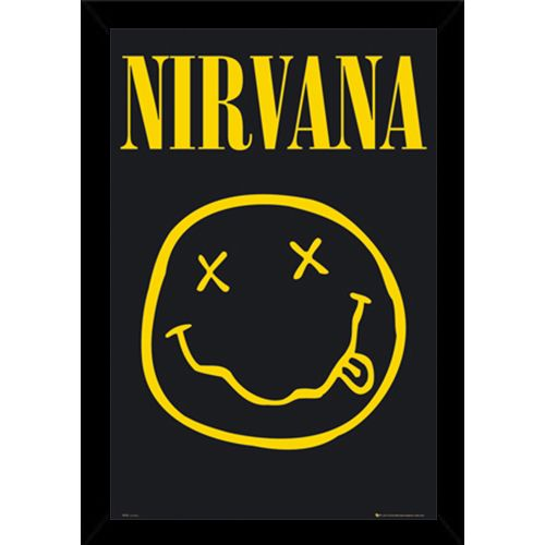 USA Nirvana Smiley Poster