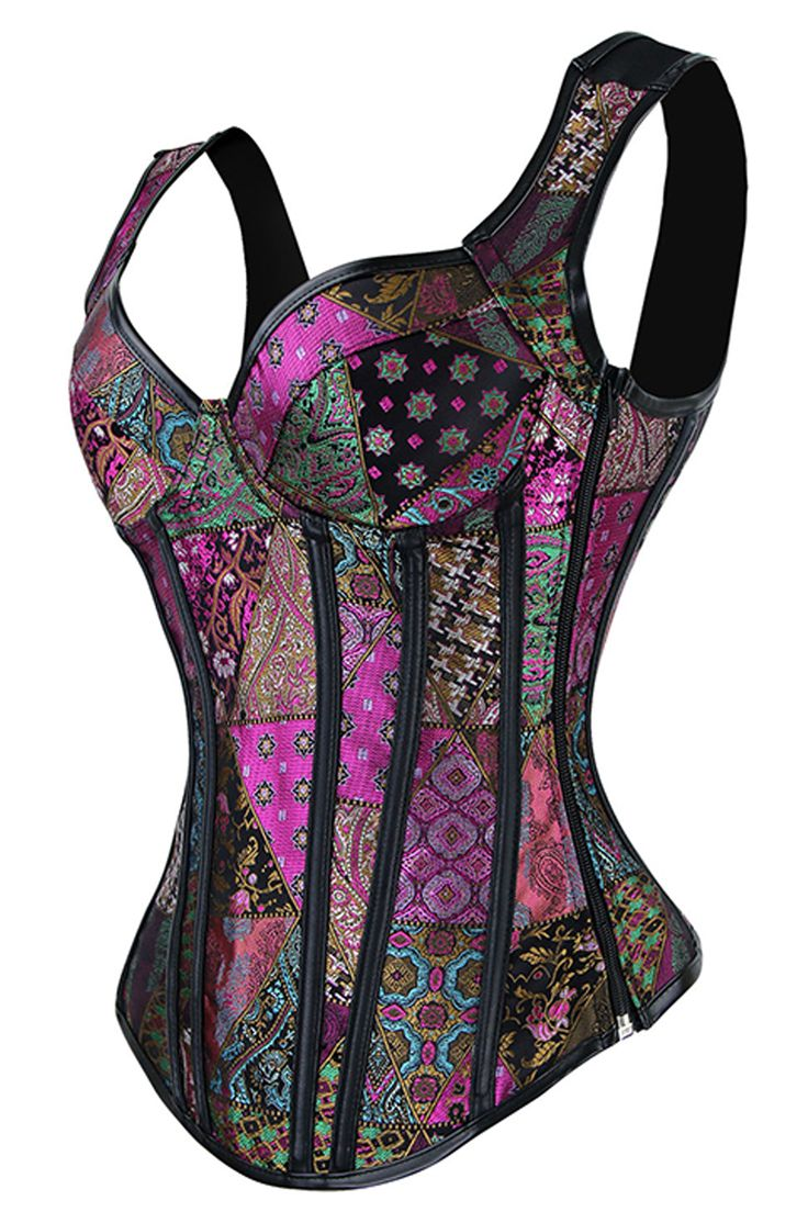 Color your steampunk style with our Atomic Purple Patchwork Steel Boned Steam Overbust Corset. https://atomicjaneclothing.com/products/atomic-purple-patchwork-steel-boned-steam-overbust-corset