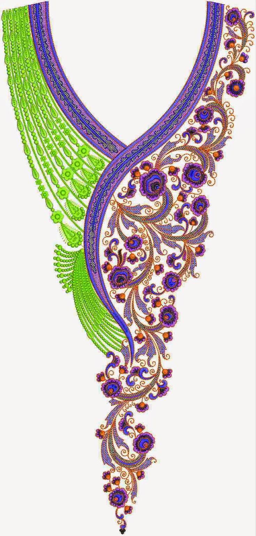 Pakistani Dress Embroidery Lovely Neck Designs - Embdesigntube