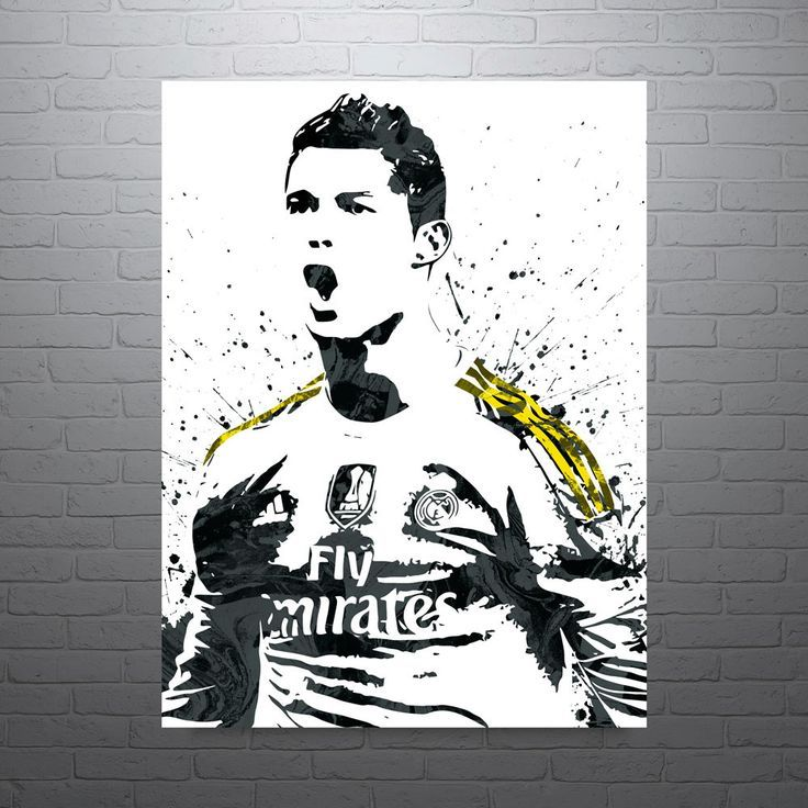 Cristiano Ronaldo Real Madrid Poster Alles Pin Sports Art Print Ronaldo Real Madrid Sports Art