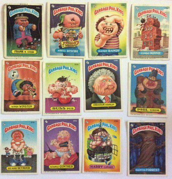 Set Of 20 Vintage Garbage Pail Kid Cards Garbage Pail Kids Cards Garbage Pail Kids Kids Cards