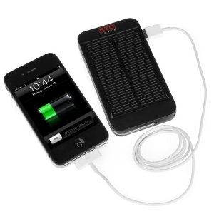 Just in case. EZOPower Portable Solar External Backup Battery Charger 1500MAH with Flash Light for Smartphones / E-readers / MP3 Players and More USB Powered Devices