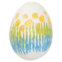 Vajíčko zdobené pomocí vlnitého papíru