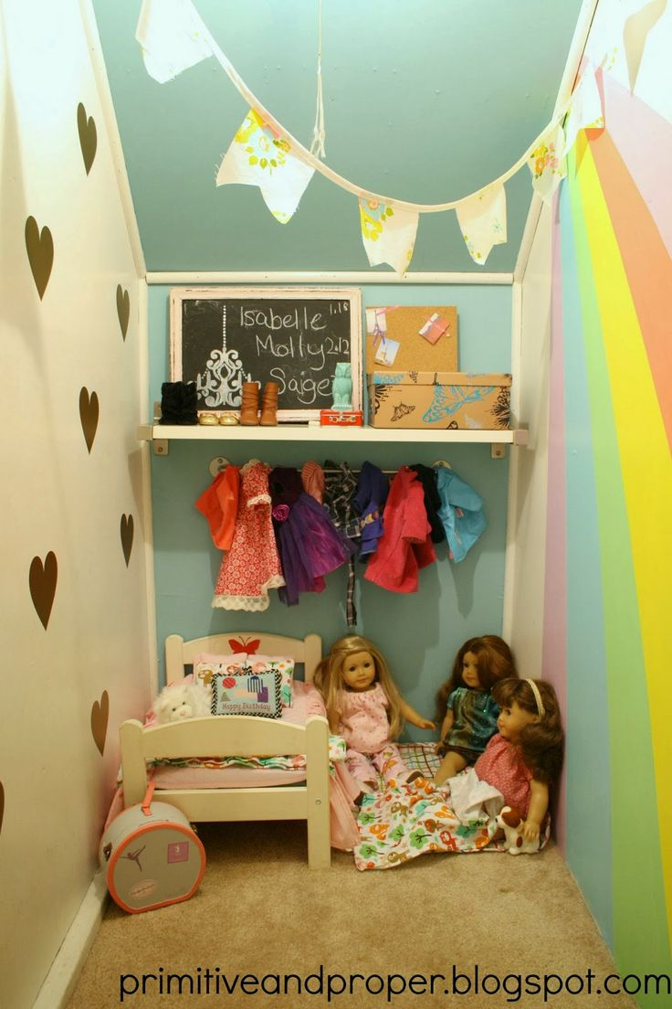 Lighting Basement Washroom Stairs: Such A Fun Little Play Nook For A Little Girl