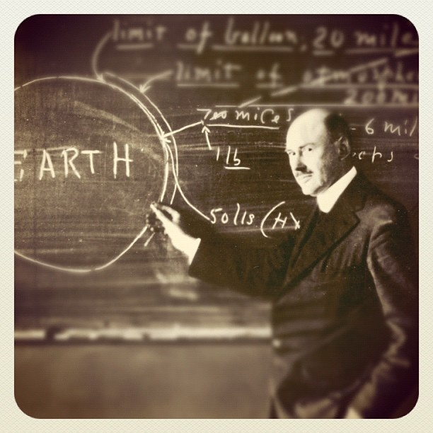 Dr. Robert H. Goddard. On this date (3/16/2012) 86 years ago, Dr. Robert H. Goddard (1882-1945) launched the first liquid fueled rocket in MA.  March 16, 1961: the NASA Goddard Space Flight Center was formally dedicated. This was NASA's first research center, and it was named in memory of Robert Goddard, the rocketry pioneer.  Credit: NASA