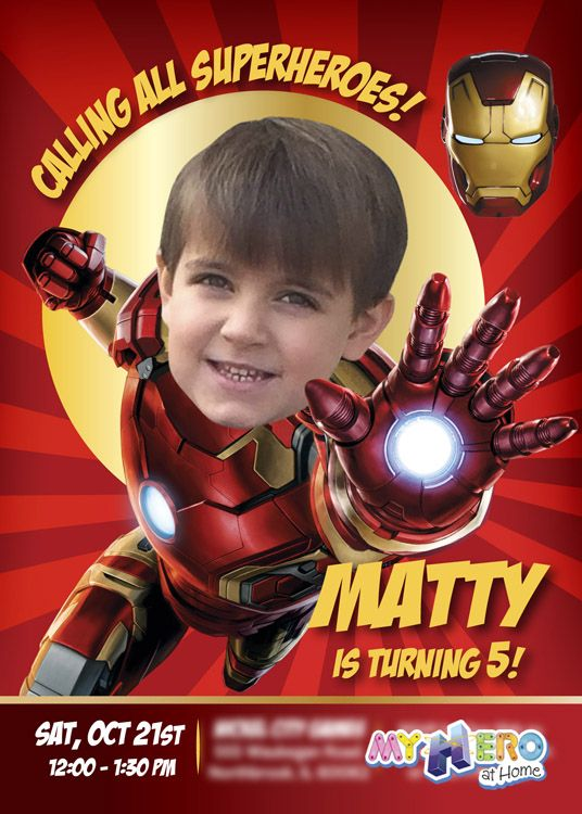 66 best iron man birthday ideas images on pinterest birthday party ironman birthday invitation ironman birthday party your boy as iron man in his birthday invitation avengers birthday ideas 098 bookmarktalkfo Images