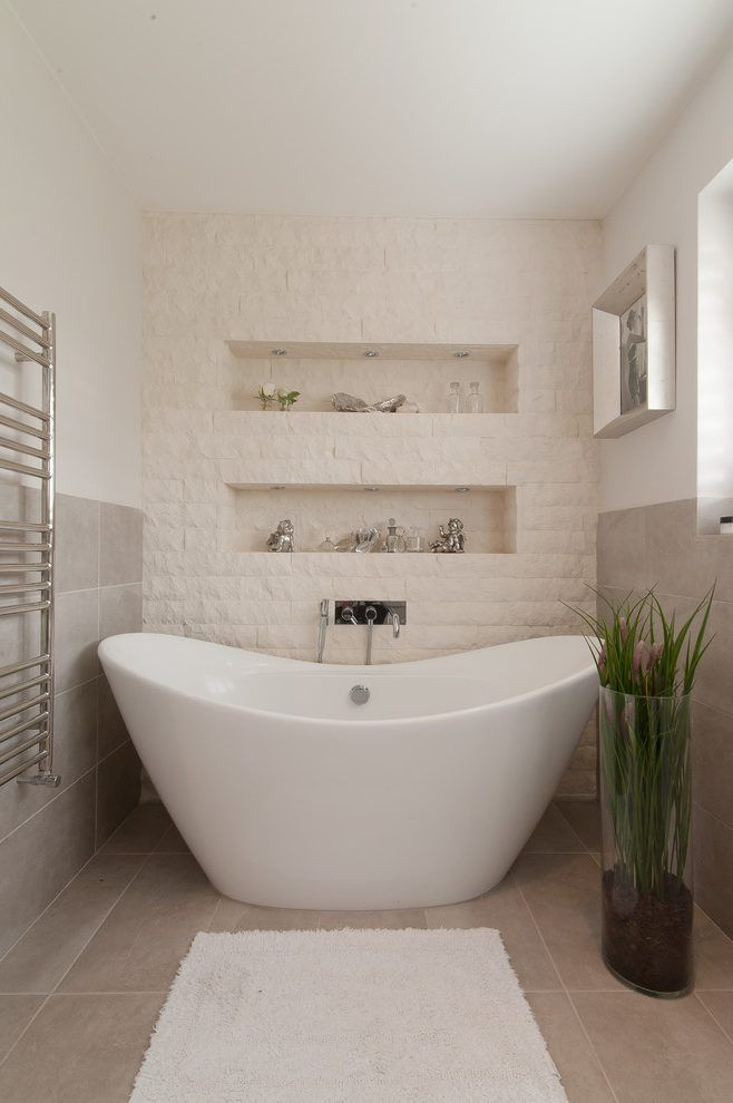 london small freestanding tub with transitional soaking bathtubs bathroom and alcove towel warmer