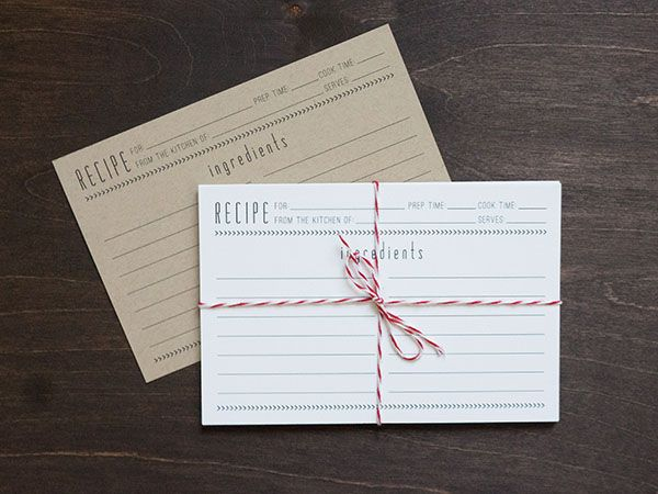 Free Printable Recipe Card // Evermore Paper Co.