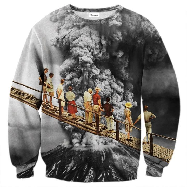 Are you a volcano person? Take a long look down the crater and fuel your inner eruption with this comfy jumper. Just be careful - hold the rail and don't slip! www.bittersweetparis.com