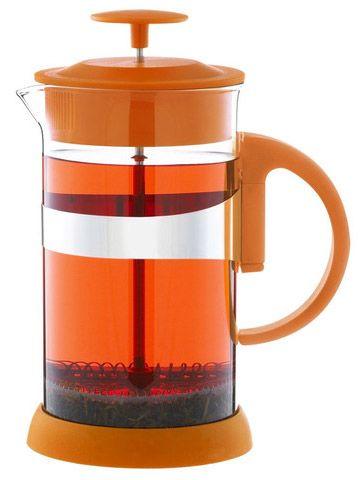 Zurich 1000 ml (34 oz) Orange French Press - cocafe