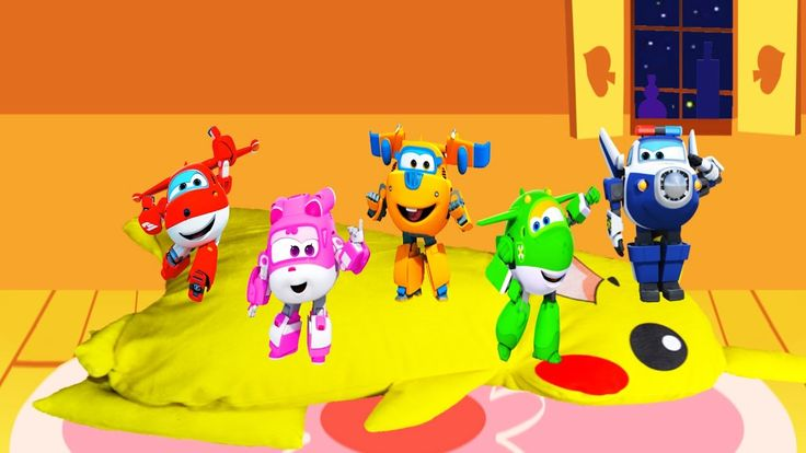 Super Wings Jumping on the Bed, Nursery Rhymes, video for children