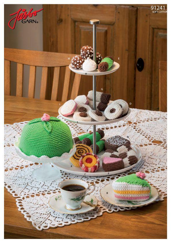 Virkade tårtor och bakverk