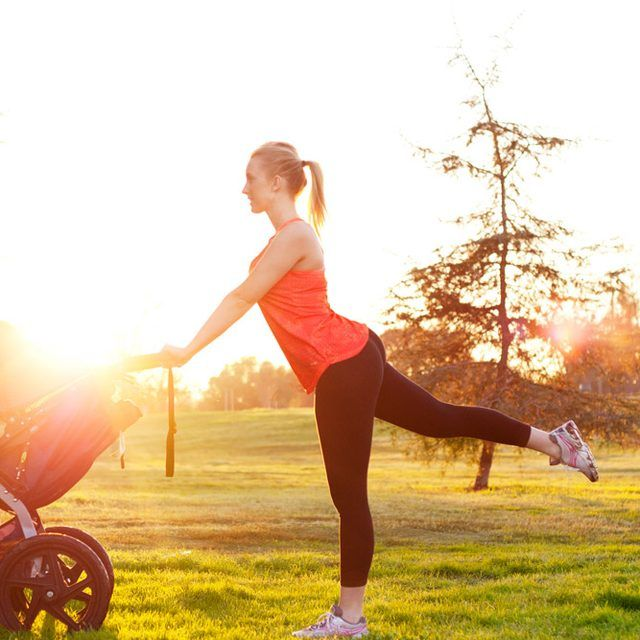 Reverse Leg Lift, Use Your Stroller to Help Lose the Baby Weight: