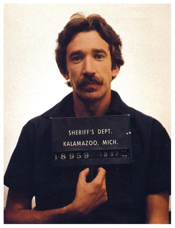In October of 1978, a 25-year-old and mustachioed Tim Allen was arrested when he tried to sell a large amount of cocaine to an undercover officer in Michigan. After the bust, Allen served about two years in federal prison.