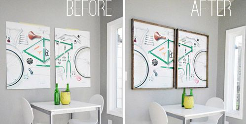 DIY Thin Frame   My Most Favoritest Art Ever | Young House Love