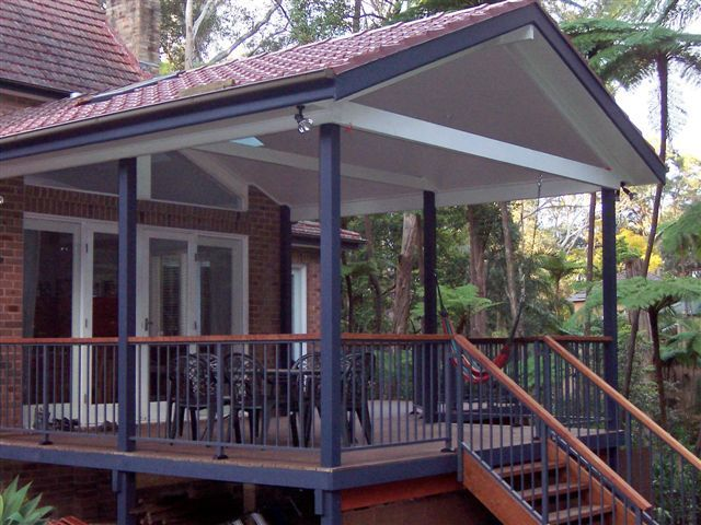 Decks With Roofs Deck Tiled Roof Gyprock Amp Aluminium