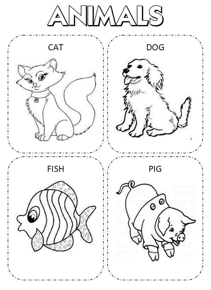 30 English Coloring Pages Learn By Playing Be 30 Desenhos Para Colorir Em Ingles A Dramatic Play Preschool Play To Learn Learning English For Kids