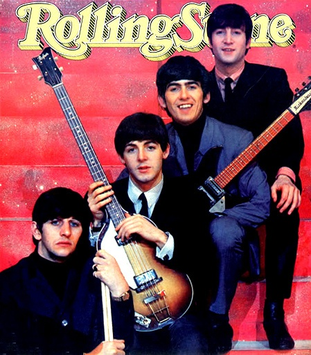 The Beatles on the cover of Rolling Stone
