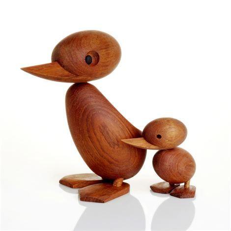 Hans Bølling Wooden Duck & Duckling