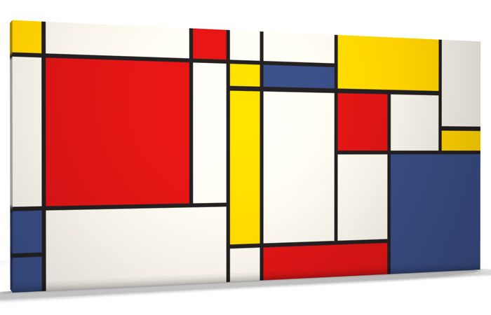 Details about Abstract Mondrian Style Art Print WIDE CANVAS - v688 ...