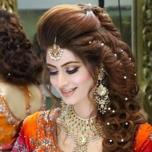 Latest Stani Bridal Hairstyles For Wedding Day 2016
