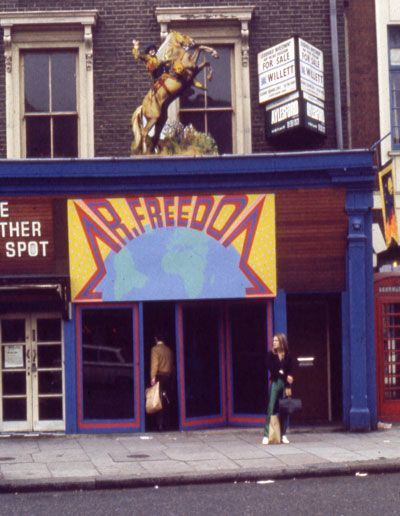 The late Tommy Robert's shop, Mr Freedom, late 1960's.