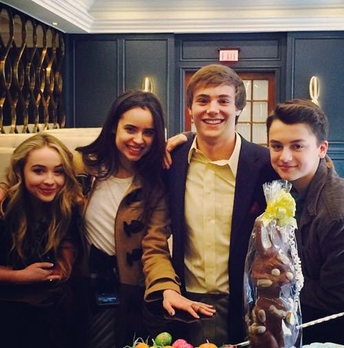 photos cast of further adventures in babysitting having fun together on easter april 5 2015. Black Bedroom Furniture Sets. Home Design Ideas