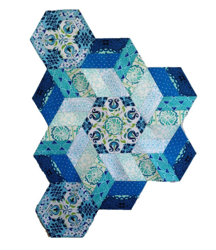 The New Hexagon Millefiore Quilt-Along: Rosette #9                                                                                                                                                                                 More