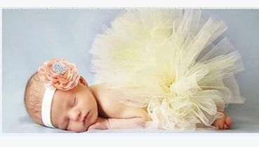 Newborn Tutu and Headband Sets - Available in 4 Colours