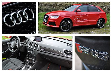 2014 Audi RS Q3 Review   Auto123.com - The RS Q3, as with all Audi RS vehicles, tips the scale of sanity with go-fast bits that are not unfamiliar to the likes of the TT RS and other such high-performance cars from the luxury brand based in Ingolstadt, Germany. #audi #q3 #rs #crossover #review