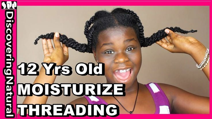 How To Moisturize Natural Hair in African Threading Hairstyles - YouTube