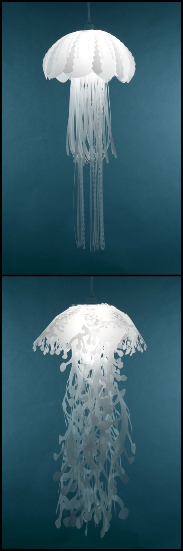 Add a little underwater illumination to your room with these stunning jellyfish lights by Roxy Russel Design.  We have more decorating inspiration for you! View the full collection on our site at http://theownerbuildernetwork.co/8z0b  Anyone of you  thought that they're real jellyfish?