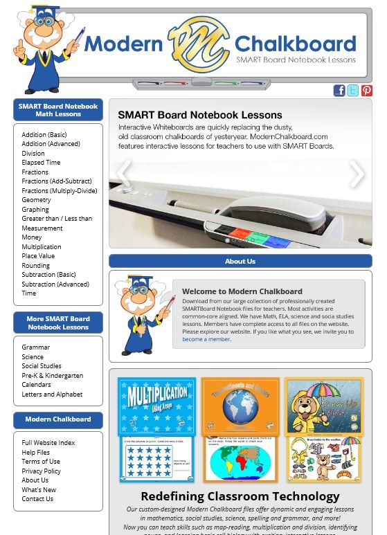 Here's a SNEAK PEEK of the new layout and design for ModernChalkboard.com - What do you think?  #smartboard #teachers