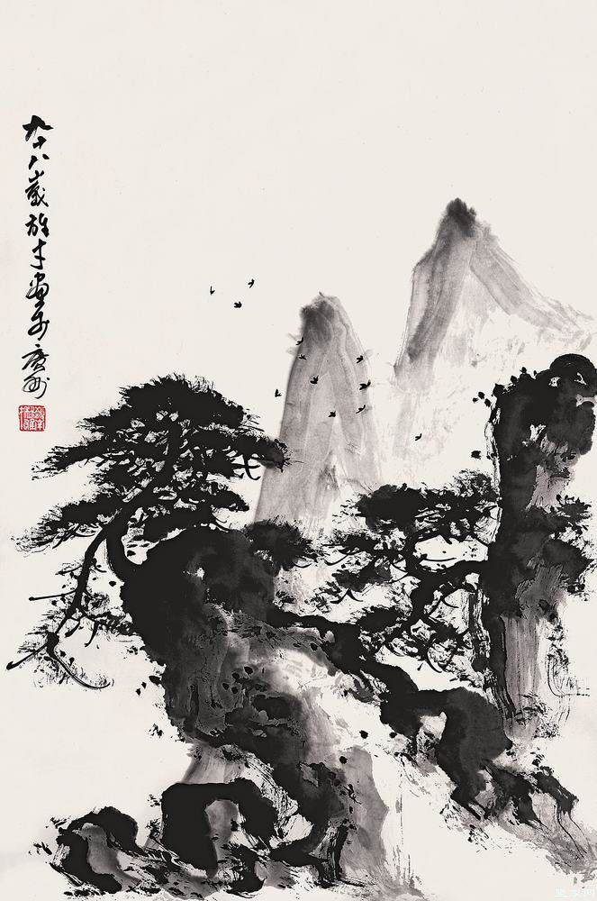 I LOVE Japanese ink paintings. So much can be told through just a few strokes of the brush.