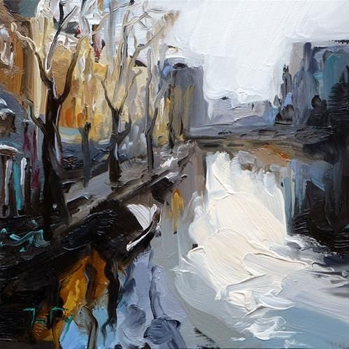 "Daily+Paintworks+-+""Streets+of+Amsterdam""+-+Original+Fine+Art+for+Sale+-+©+Jurij+Frey"