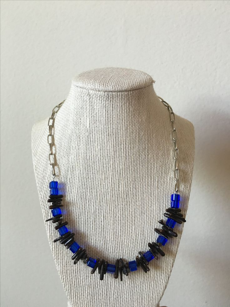 Coral blue necklace by MaxAna x