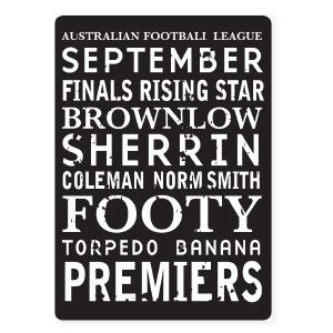 AFL Tram Sign, perfect to theme an AFL party