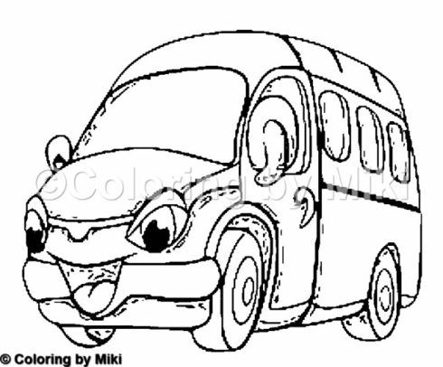 Cartoon School Bus Coloring Page #204 #coloring #design #ぬりえ #coloringpages #アート #art #教育 #education #teaching #learning #todder #preschool #かわいい #kawaii #forkids #schoolbus #cars #スクールバス #車 #cartoon