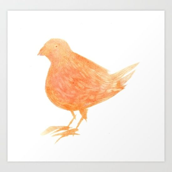 Orange Bird by Cattrick on Society6