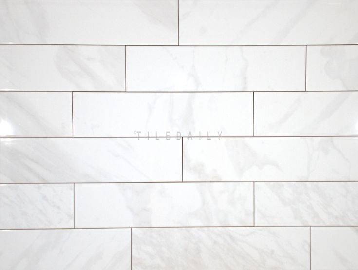 P0099we 4x16 White Carrara Ceramic Tile Ceramic Tiles