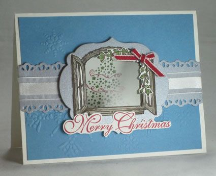 One Last Peek through my Cottage Window #3 : April Jackson's Stampin' Up! Blog: Christmas Cards, Cards Ideas, Crafts Cards, Cards Christmas, Cottages Window Stampin Up, Cottage Windows, General Cards, Photo
