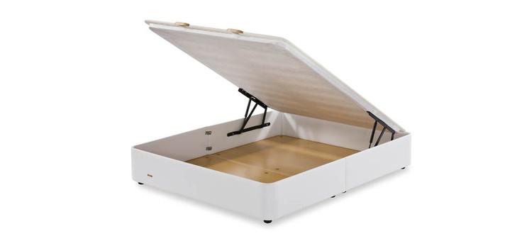 Os presentamos el canapé abatible Arcón de Flex, está fabricado en polipiel y su singular diseño permite disfrutar de un canapé moderno y a su vez aprovechar la ventaja de su gran espacio interior.  Gracias  a su gran transpirabilidad es adecuado para cualquier tipo de colchón.