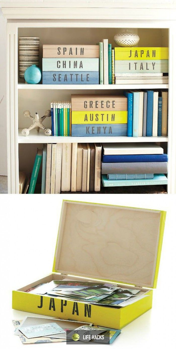 Create memory boxes for trips