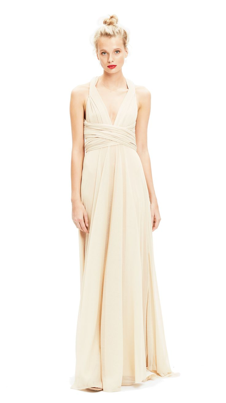 The 25 best grecian bridesmaid dress ideas on pinterest grecian our multiway floor length bridesmaid dress can be twisted and tied in endless different ways ombrellifo Images