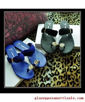giuseppe zanotti slippers satin strap