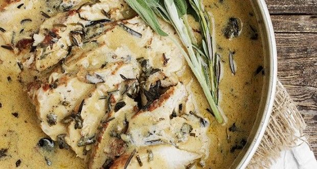 #Food : Pork Loin with Wine and Herb Gravy